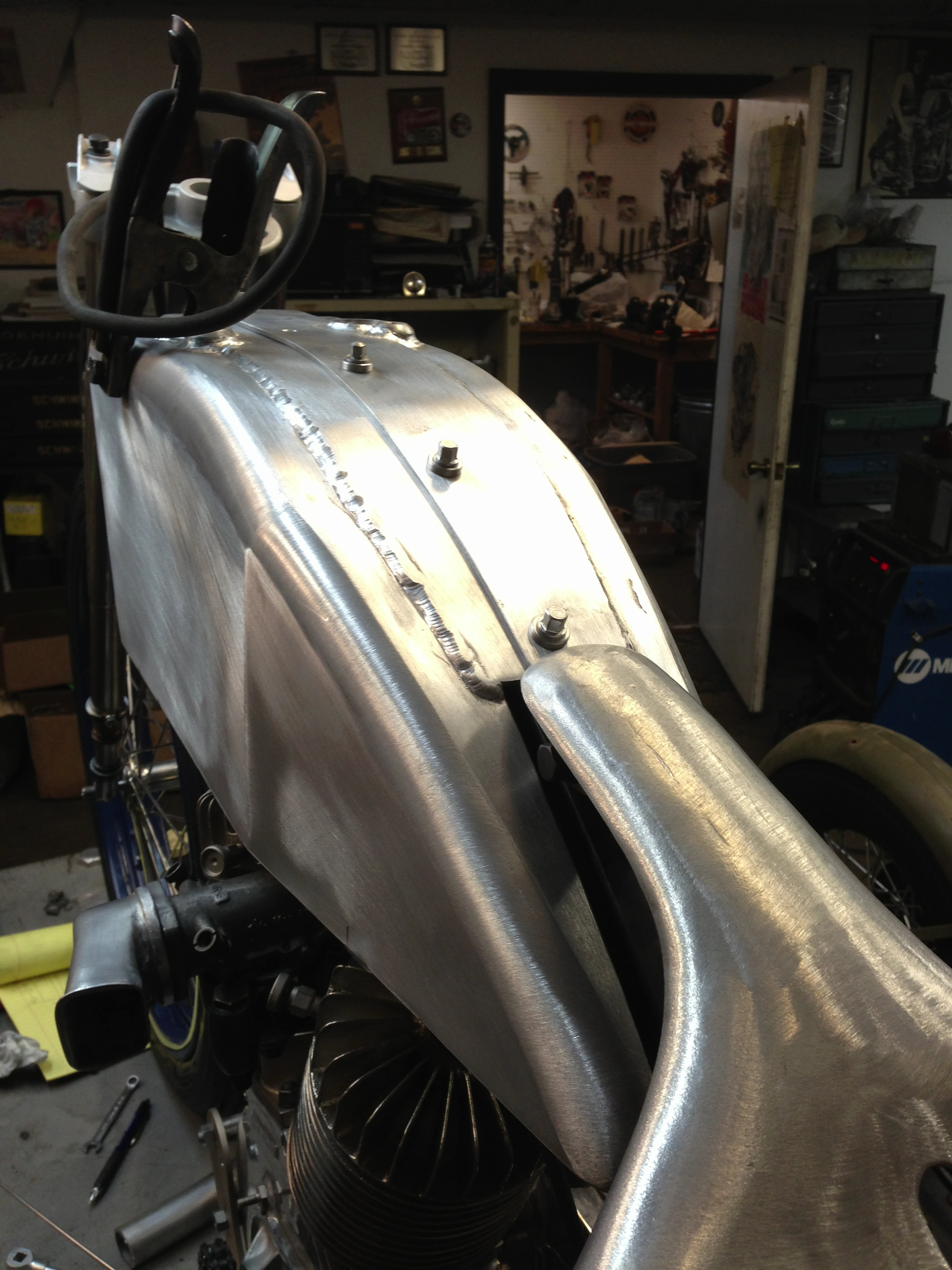 matts tank sanded mounted