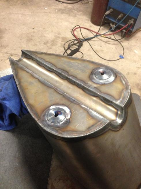 underside of tank