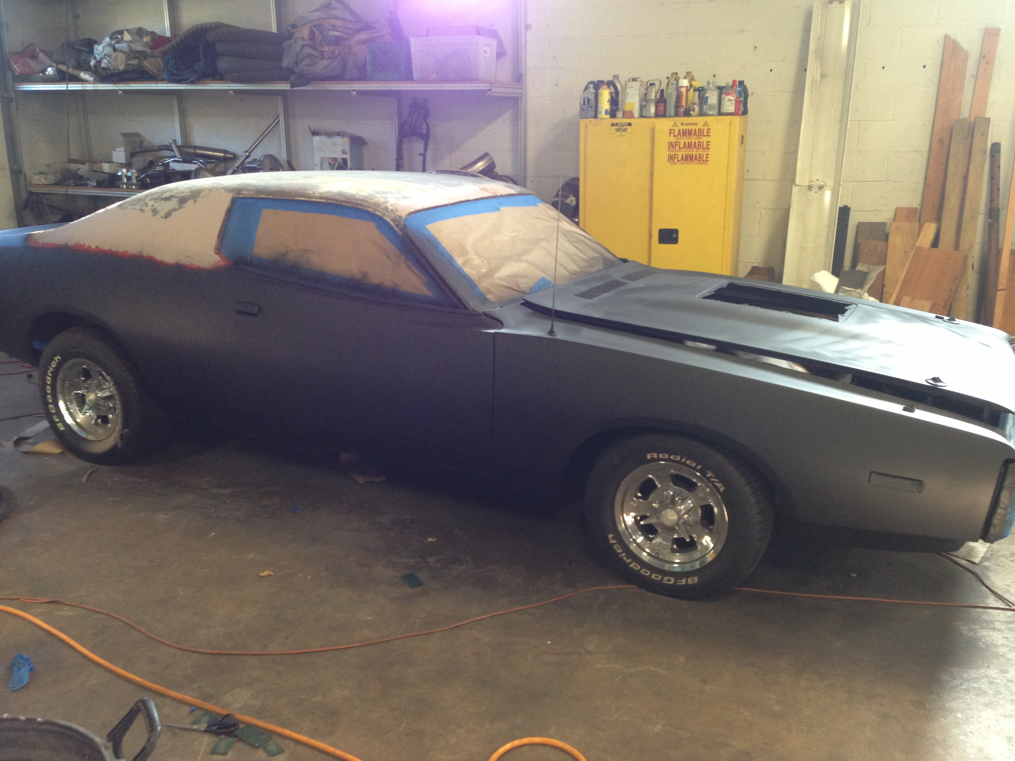 charger being painted